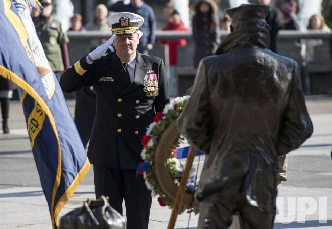 Veterans Day Ceremony at the Navy Memorial in Washington, D.C.