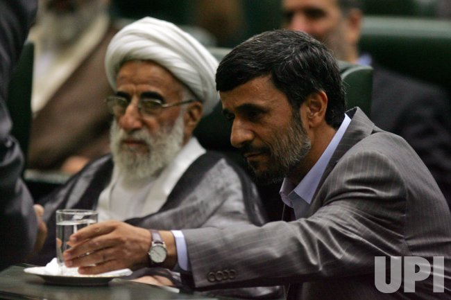 Iran's President Mahmoud Ahmadinejad is sworn in for second term