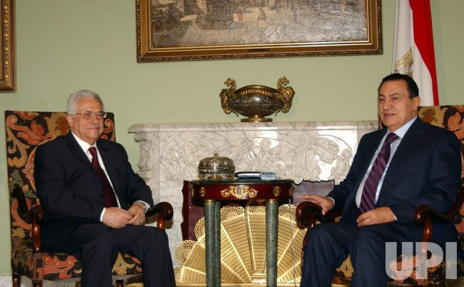 MAHMOUD ABBAS MEETS WITH HOSNI MUBARAK