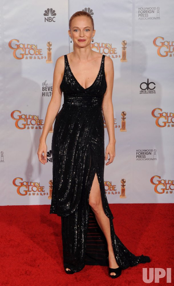 Heather Graham appears backstage at the 67th annual Golden Globe Awards in Beverly Hills