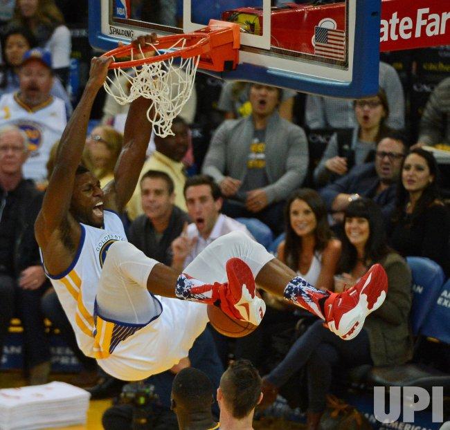 Warriors Festus Ezeli Slams In Two Against Denver