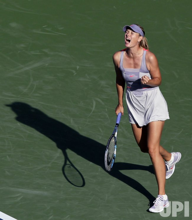 Maria Sharapova of Russia at the U.S. Open Tennis Championships in New York