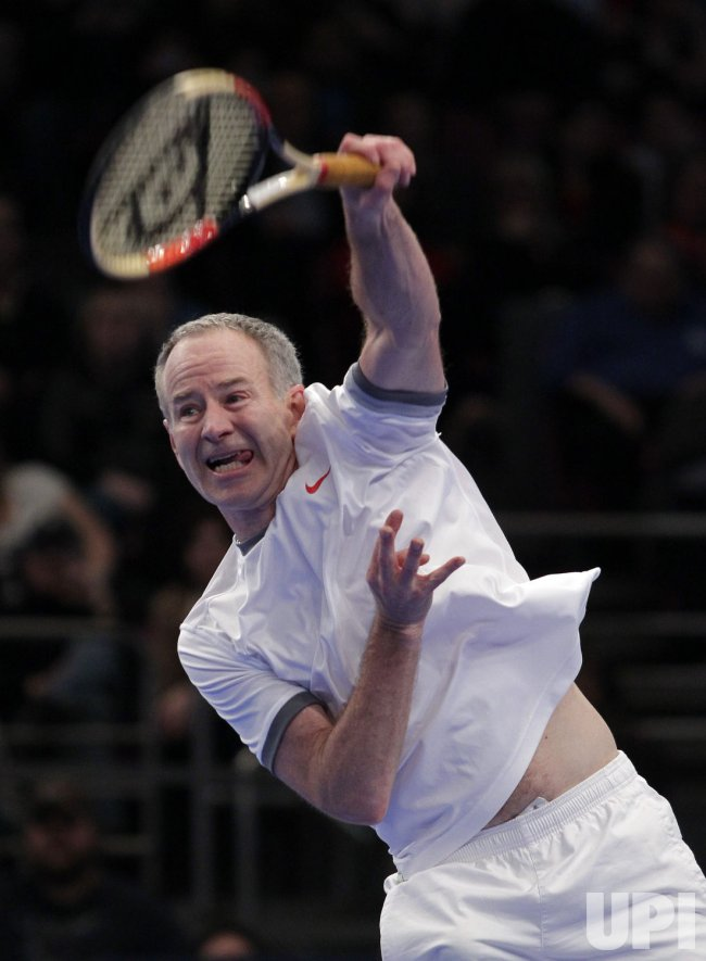 Tennis Legend John McEnroe at the BNP Paribas Showdown in New York