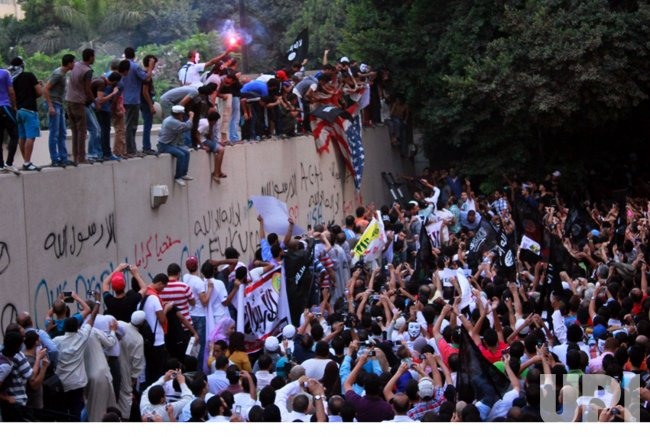 Angry Egyptian Demonstrators Attack U.S. Embassy in Cairo