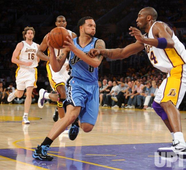 Los Angeles Lakers vs Utah Jazz Game 1 first-round playoffs in Los Angeles