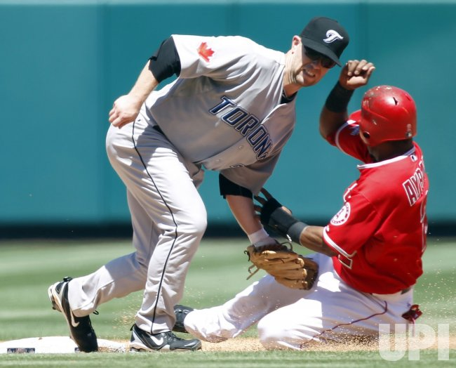 Los Angeles Angels vs Toronto Blue Jays in Anaheim, California, baseball