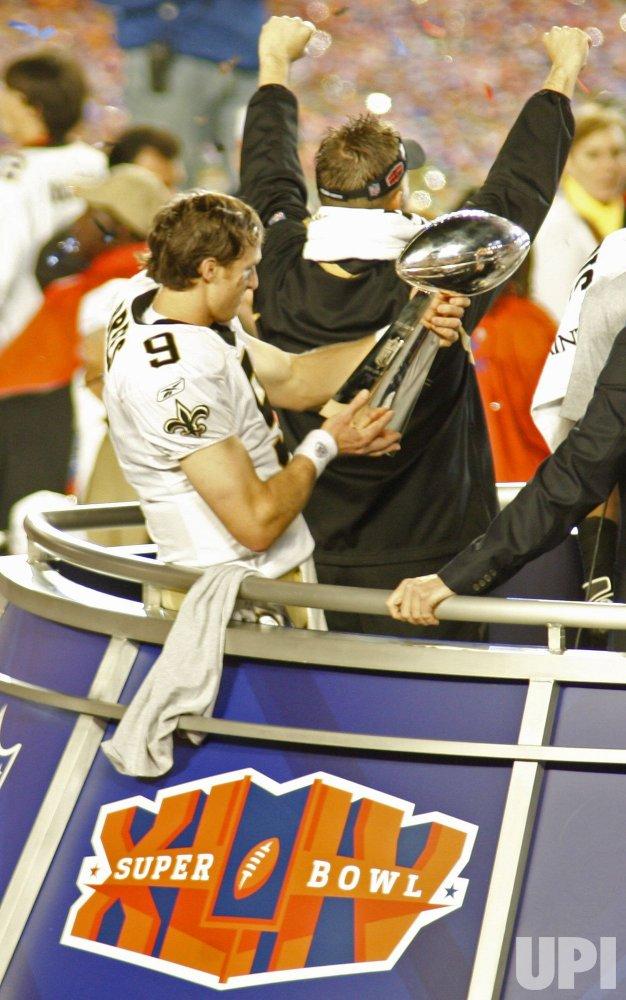 Super Bowl XLIV Indianapolis Colts vs New Orleans Saints in Miami