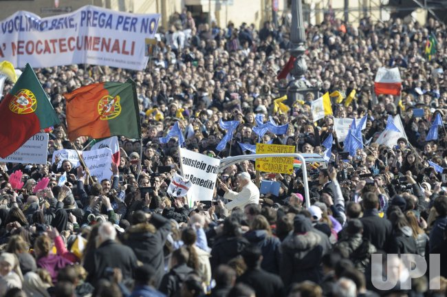 Pope Benedict XVI Holds His Final General Audience at the Vatican