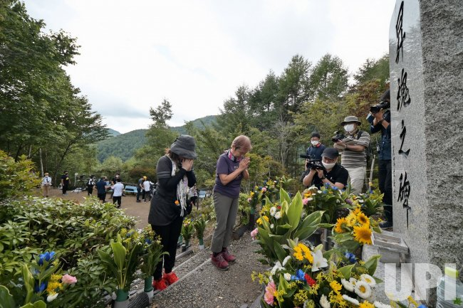 The 35th anniversary of JAL plane crash disaster in Japan