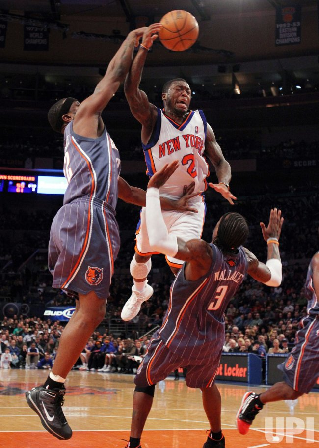New York Knicks Nate Robinson at Madison Square Garden in New York