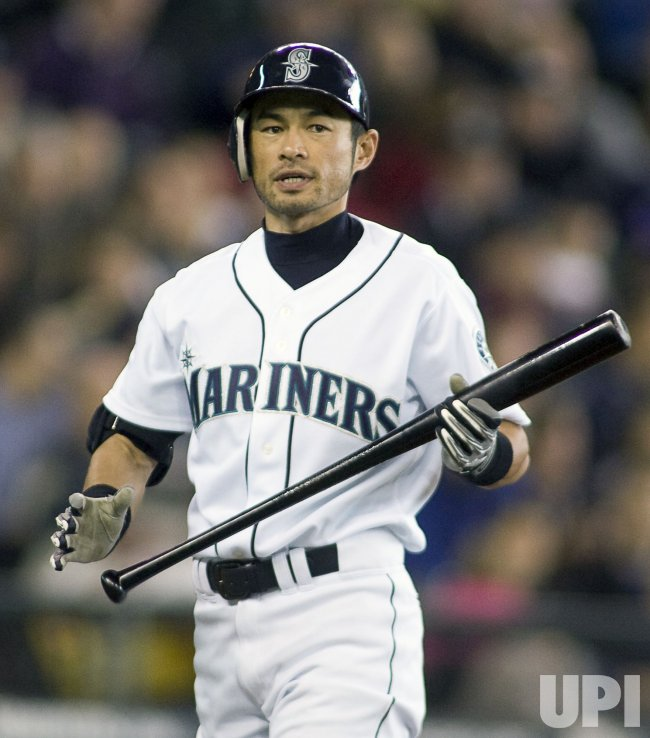 Mariners Suzuki Reacts After Striking Out in fifth inning against the Detroit Tigers in Seattle.