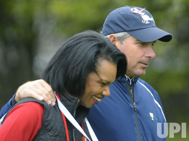 Condoleezza Rice attends the fourth round of the 2009 Presidents Cup in San Francisco