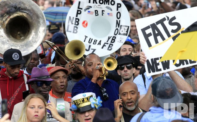 Second-line parade for the late music legend Fats Domino