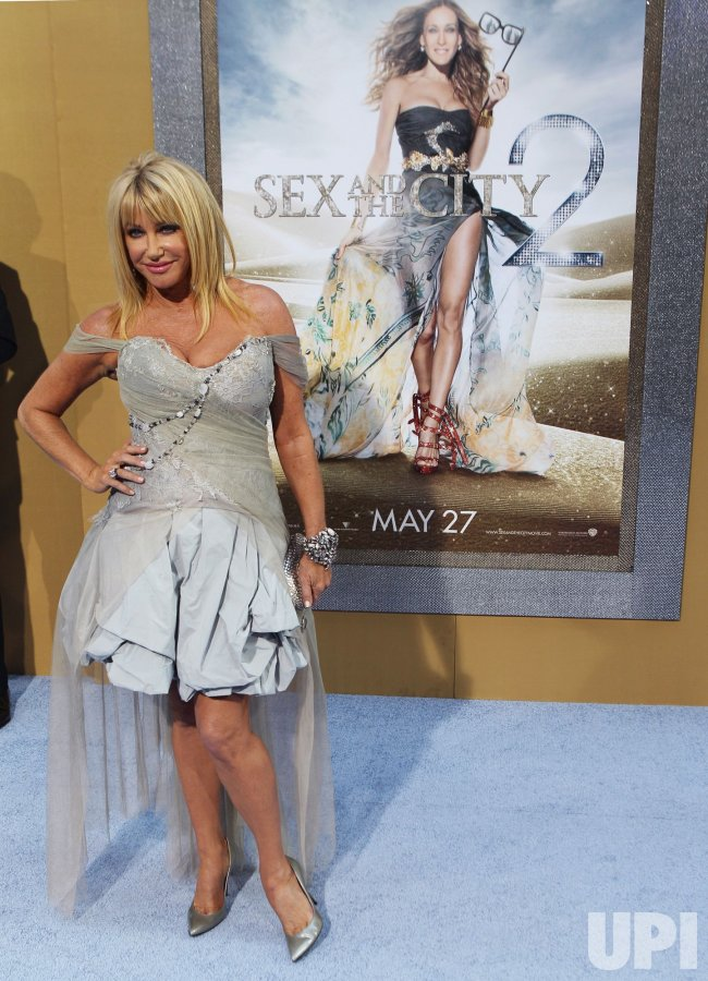 "Suzanne Somers arrives at the ""Sex And The City 2"" premiere at Radio City Music Hall in New York"