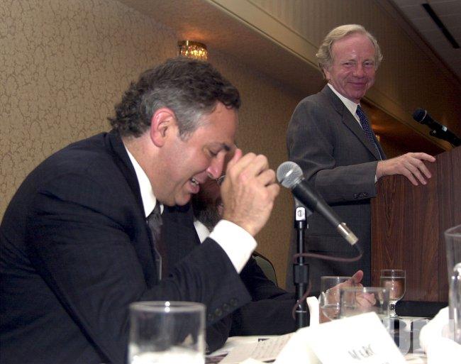 Senator Joseph Lieberman visits Dallas, Texas