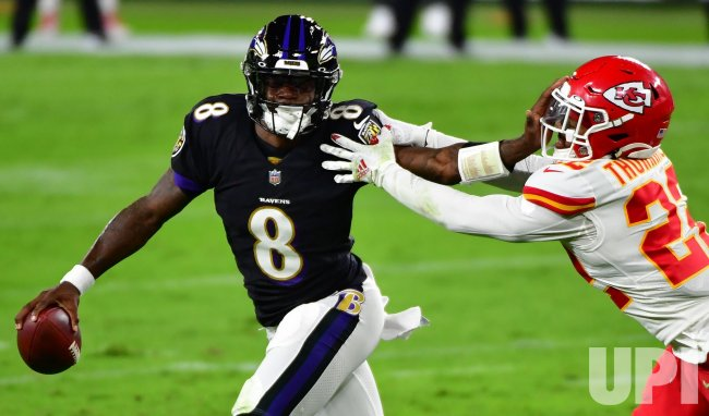 Baltimore Ravens play Kansas City Chiefs at M&T Bank Stadium