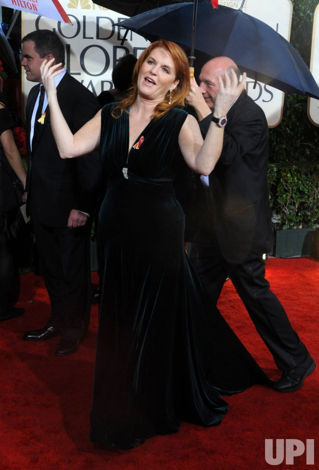 Sarah Ferguson arrives at the 67th annual Golden Globe Awards in Beverly Hills