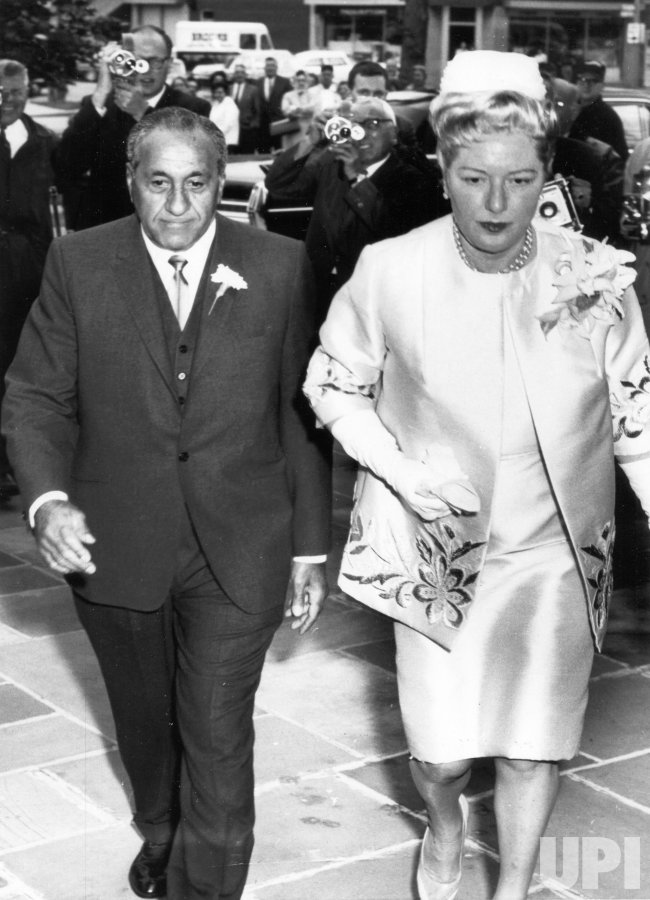 ACCARDO WITH HIS WIFE AT ST.VINCENT CHURCH TO ATTEND HIS SON'S WEDDING