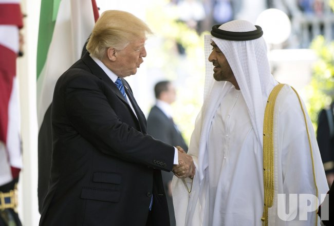 President Trump greets Crown Prince of Abu Dhabi at the White House
