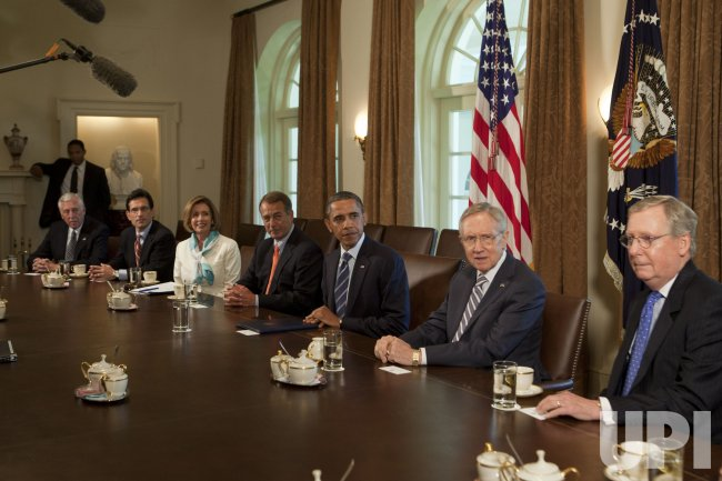 President Obama Meets With Congressional Leadership at White House