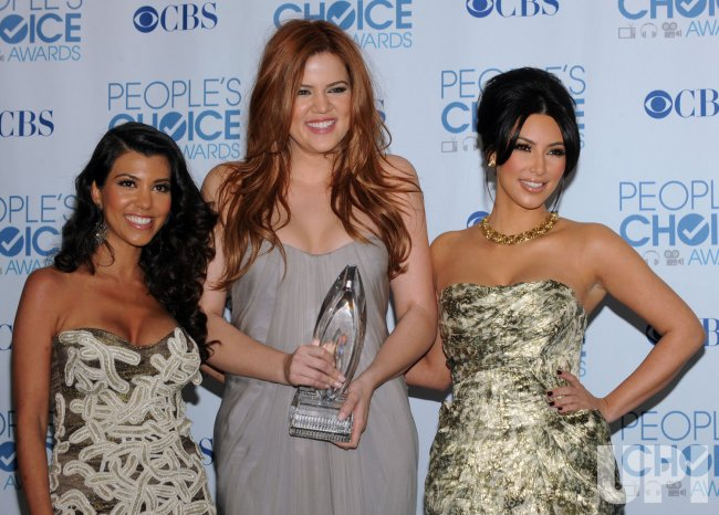 The Kardashian's garner award at the People's Choice Awards in Los Angeles