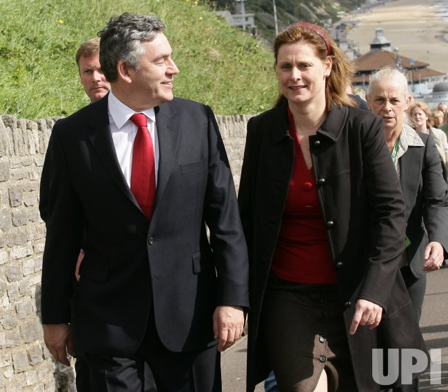 GORDON BROWN AND SARAH BROWN ATTEND LABOUR MEETING IN GREAT BRITAIN