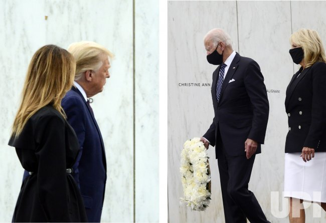 Trump and Biden Both Visit the Flight 93 Memorial in Pennsylvania