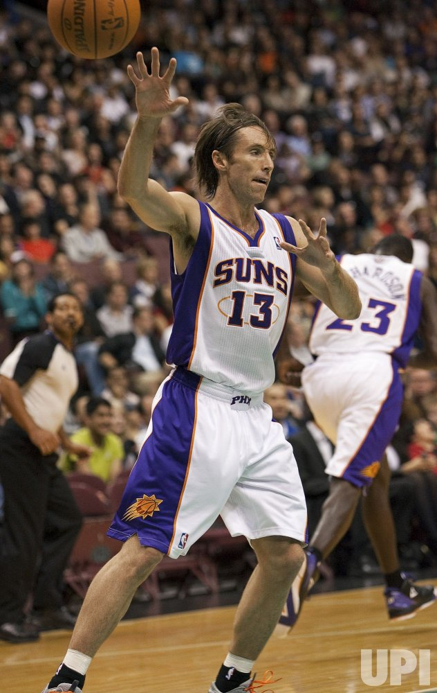 Steve Nash and the Phoenix Suns host the Toronto Raptors in a NBA Exhibition game in Vancouver