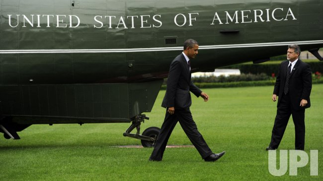 Obama returns from Cincinnati in Washington
