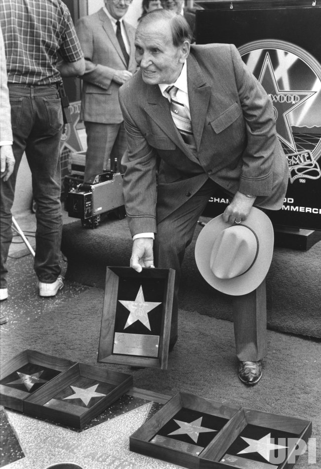 Gene Autry receives fifth star on Hollywood Walk of Fame