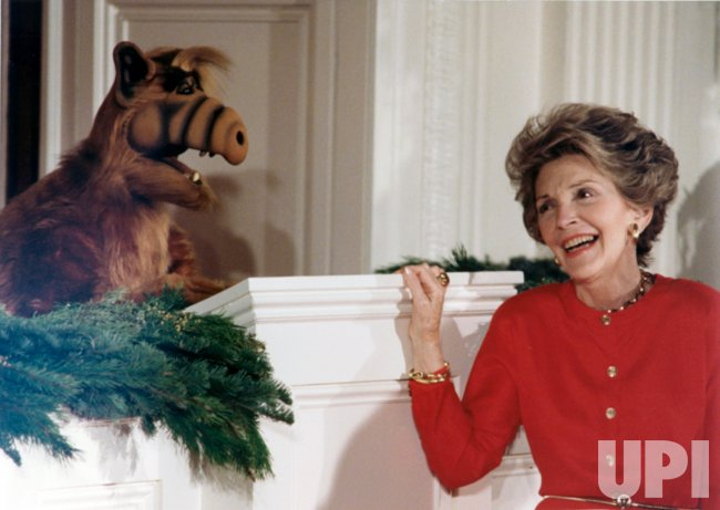 Nancy Reagan with Alf