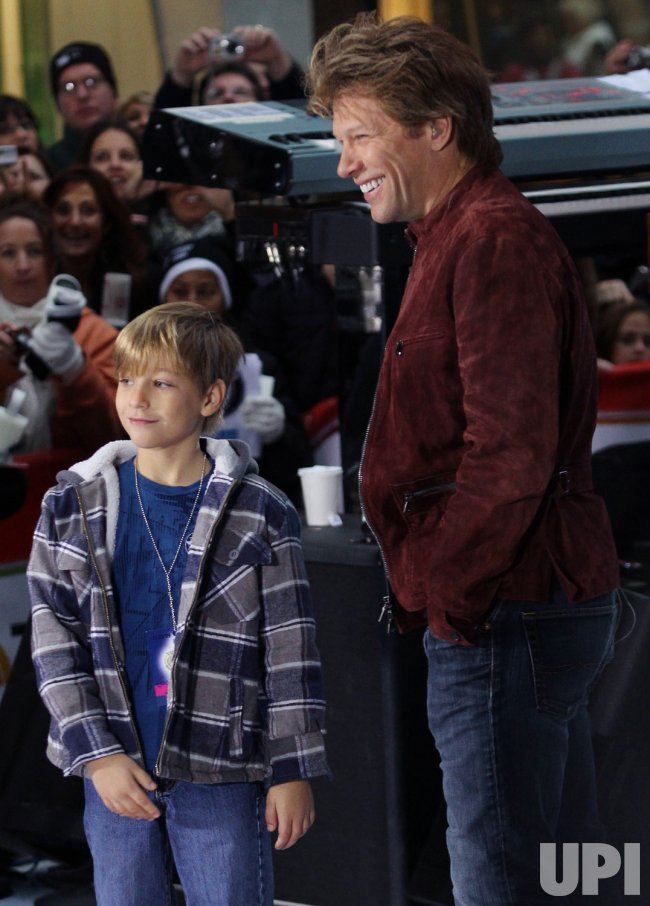 Jon Bon Jovi performs on the NBC Today Show at Rockefeller Center in New York
