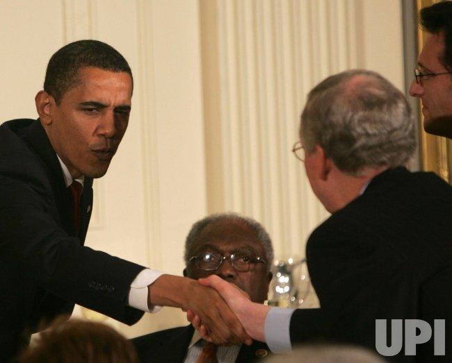 U.S. President Obama speaks to Congressional Committee chairmen in Washington..