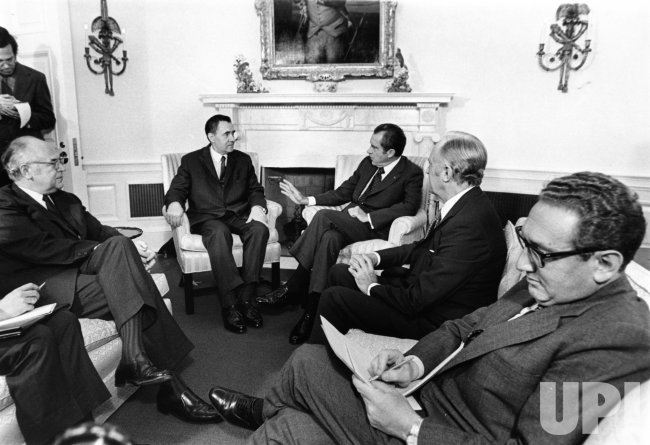 Andrei Gromyko and Pres. Nixon meet at the Whtie House