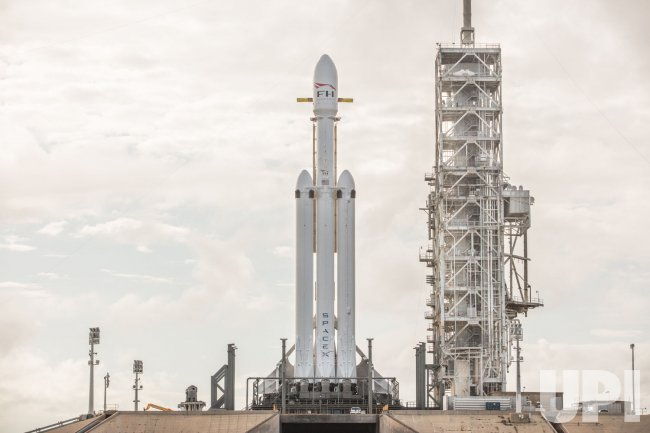 SpaceX's Falcon Heavy Rocket During Testing at Kennedy Space Center