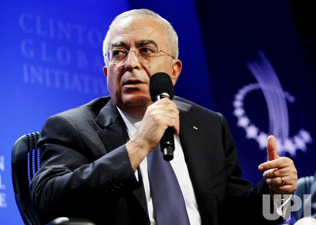 Palestinian Prime Minister Salam Fayyad speaks at the sixth annual Clinton Global Initiative in New York