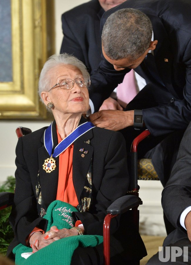 President Obama awards the Medal of Freedom to Katherine G. Johnson