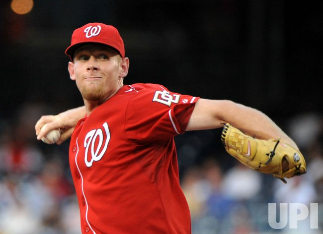 Nationals's Stephen Strasburg in Washington
