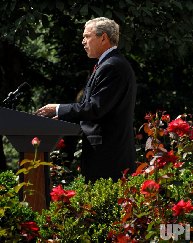 BUSH SPEAKS AFTER CABINET MEETING AT WHITE HOUSE