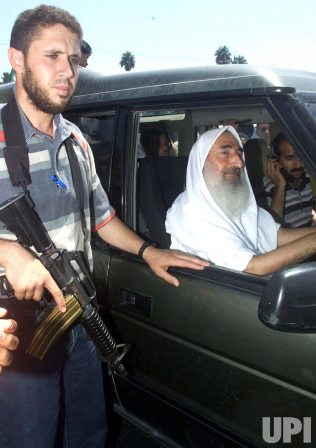 Sheik Ahmed Yassin, spiritual leader of Hamas