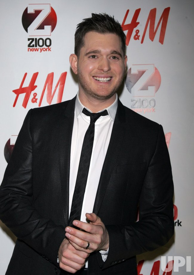 Michael Buble arrives for the Z100 Jingle Ball in New York