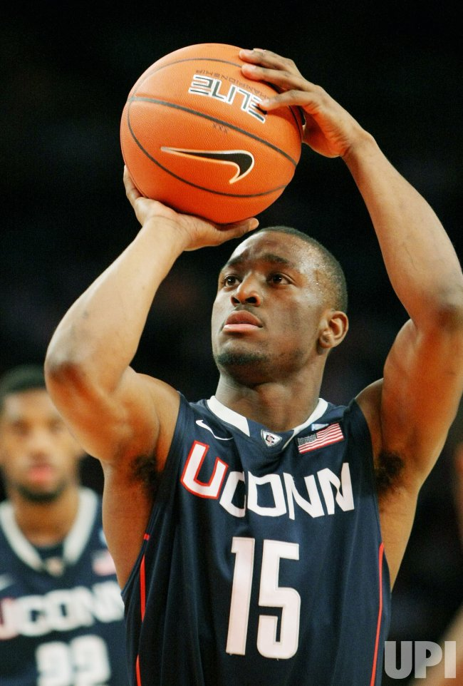 Kemba Walker of Connecticut plays at NCAA Big East Basketball Championship in New York