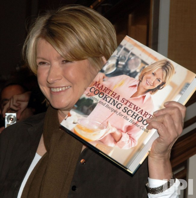 Martha Stewart launches new cook book in New York