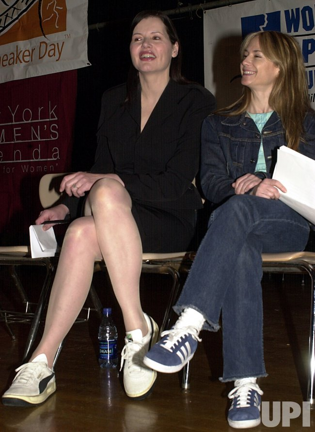 Geena Davis and Holly Hunter promo Sneaker Day program