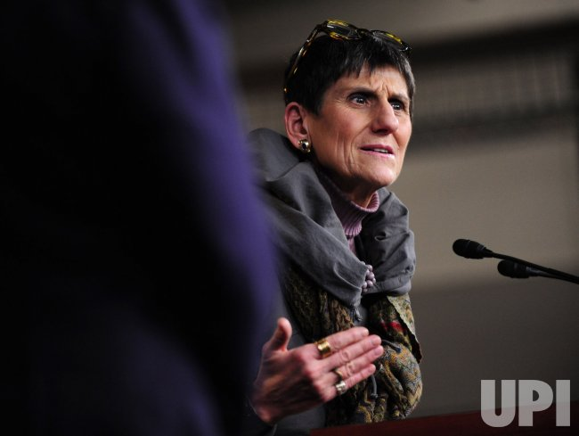 Rep. Rosa Delauro (D-CT) speaks on the Democrat's agenda in Washington