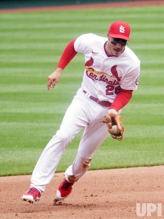 St. Louis Cardinals Third Baseman Nolan Arenado Makes Play