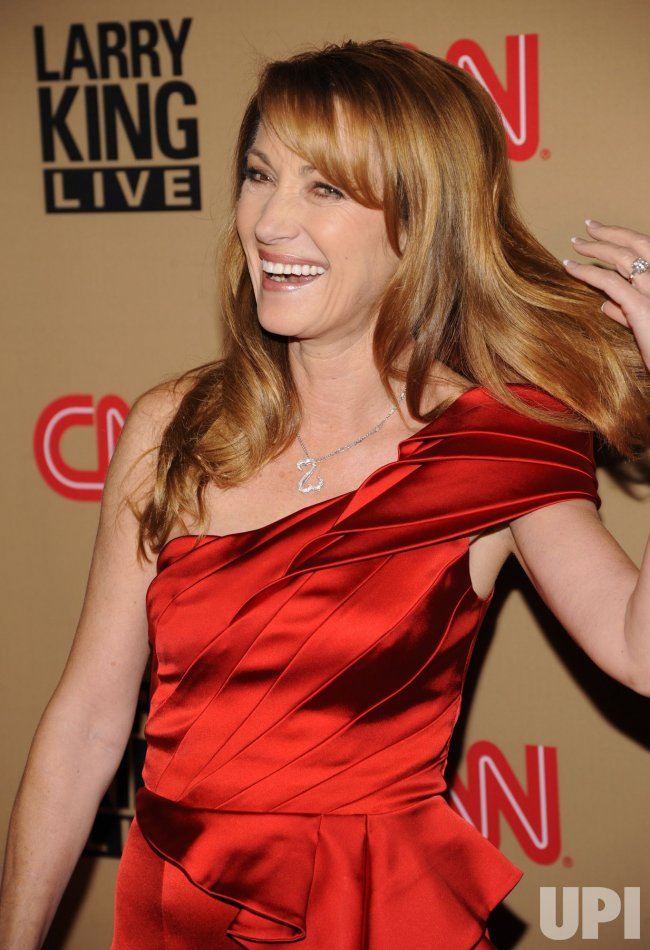 Jane Seymour attends a party for Larry King's final daily broadcast on CNN held in Beverly Hills, California