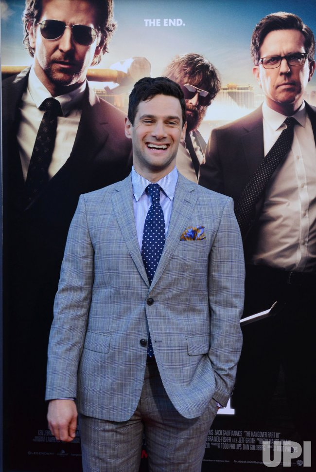 "Justin Bartha attends the premiere of ""The Hangover Part III"" in Los Angeles"