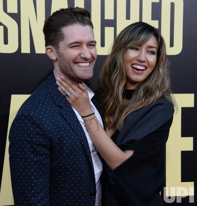 "Mathew Morrison and Renee Puente attend the ""Snatched"" premiere in Los Angeles"