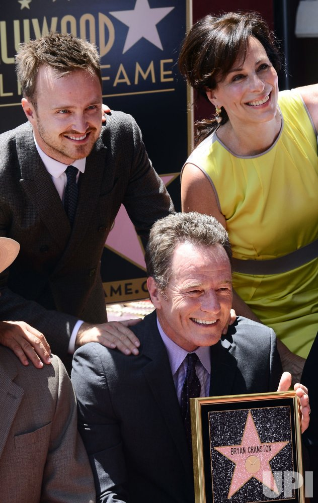 Bryan Cranston receives a star on the Hollywood Walk of Fame in Los Angeles